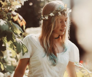 blonde, nature, and white image