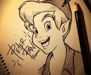 art, disney, and peter pan image