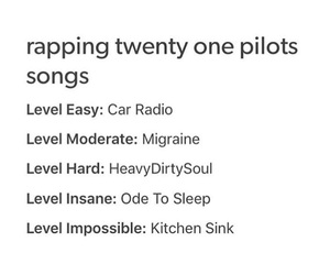 Lyrics, migraine, and kitchen sink image