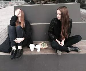 girl, black, and grunge image