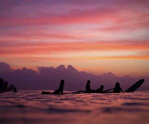 beach, sky, and surf image
