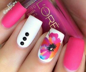 nails, loreal, and pink image
