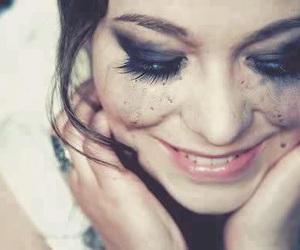 girl, smile, and tears image