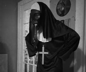 black and white, dark, and mask image
