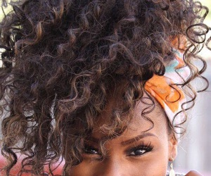 curly and makeup image