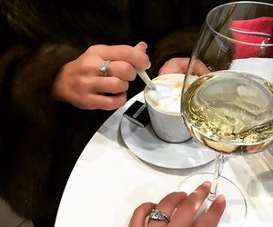 champagne, coffee, and rings image
