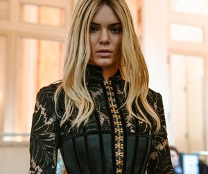 Balmain, blonde, and kendall jenner image