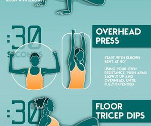 fitness, arms, and workout image