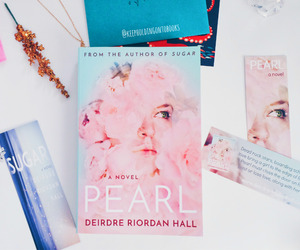 books, pearl, and reading image