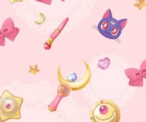 sailor moon, wallpaper, and pink image