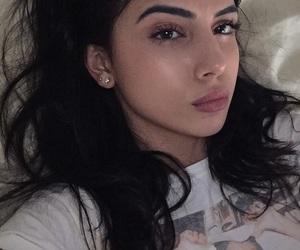 black hair, lipstick, and justin bieber image
