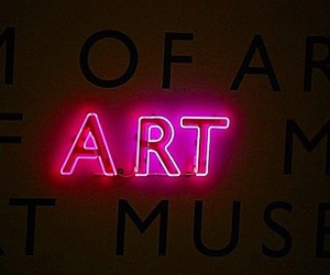 art, pink, and neon image