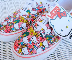 vans, hello kitty, and shoes image