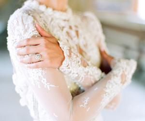 bridal gown, diamond, and lace image