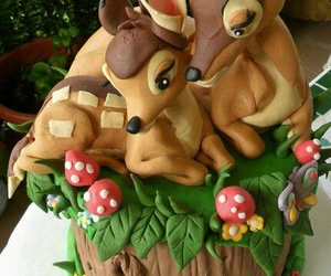 cake, bambi, and sweet image