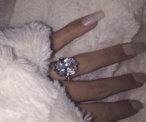 accessories, faux fur, and nails image