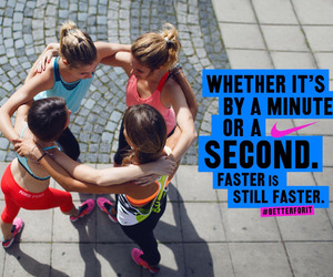 faster, fitness, and nike image