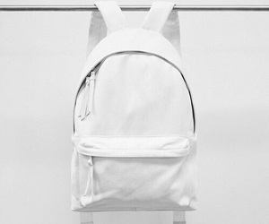 white, bag, and backpack image