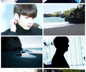 beach, black sand, and bts image