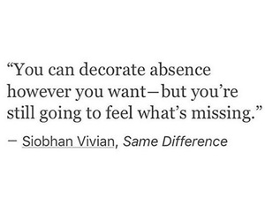 absence, decorate, and feel image