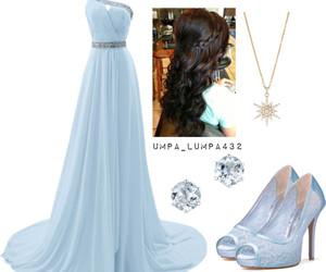 blanco, celeste, and vestido image