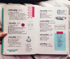colorful, diary, and planner image