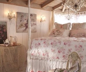 bedroom, vintage, and bed image