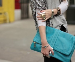 bag, clutch, and girl image