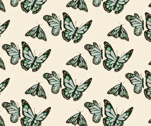 background, butterfly, and pattern image