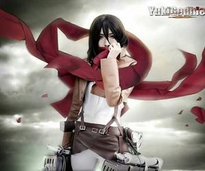 anime, mikasa, and cosplay image