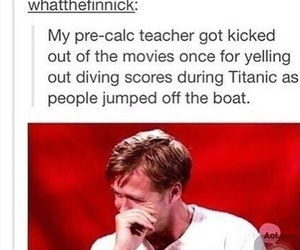 funny, titanic, and diving image