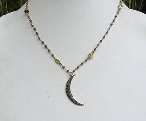 chain necklace, etsy, and pave diamond image