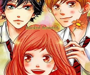 manga, yoshioka futaba, and ao haru ride image