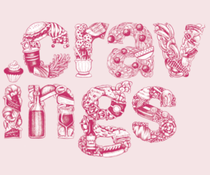 typography, food, and cravings image