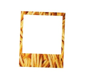 food, frame, and fries image