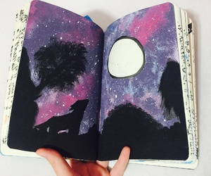 galaxy, art, and draw image