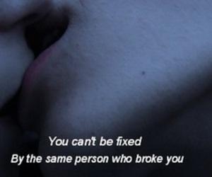 broken, teen, and love image