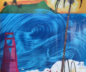 beach, magazine, and palm image