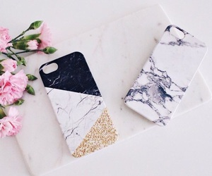 apple, case, and flower image