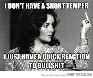 bullshit, quote, and temper image