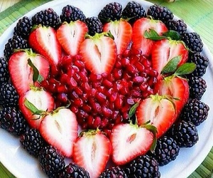 berries, delicious, and salad image