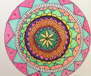 colors, draw, and mandala image