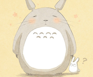 illustration and totoro image