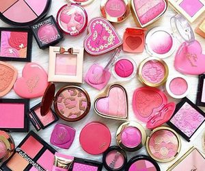 beauty, makeup, and pink image