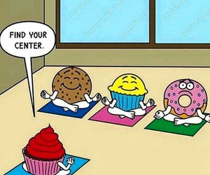 funny, yoga, and donuts image