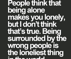 quotes, lonely, and true image