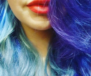 blue, hair, and me image