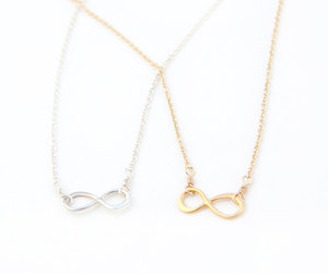 etsy, gold necklace, and infinity necklace image