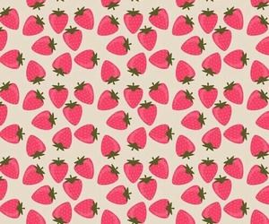 iphone wallpaper, strawberry, and pattern image