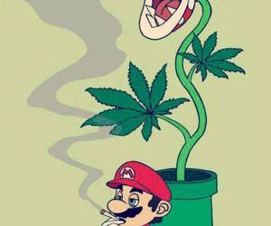 weed, mario, and smoke image